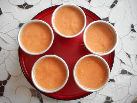 柿プリンレシピ