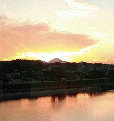 夕刻の富士