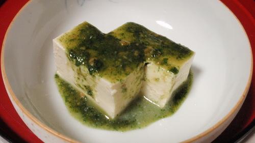お豆腐の木の芽酢味噌