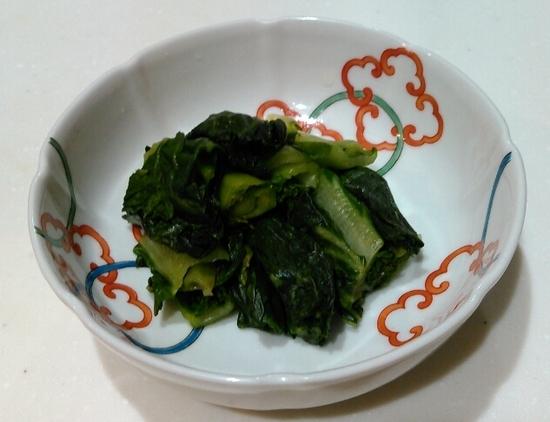 小松菜の糠漬け