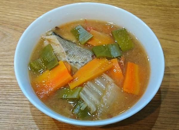 鱈と野菜トマト味噌